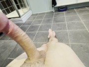 Hot Teen With Big Wet Dick Shaking Orgasm while Moaning