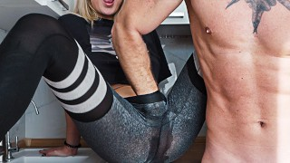 Squirt a Big Boobs Blonde and Rough Deepthroat and Hard Doggy Fuck – 4K Amateur