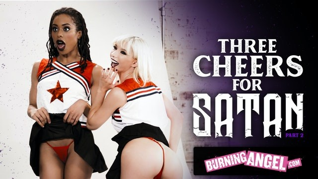 BurningAngel Cheerleaders Kenzie Reeves & Kira Noir Get Destroyed By The Football Team Leader