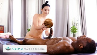 NuruMassage He Destroys Her Tight Pussy During Roleplay Session