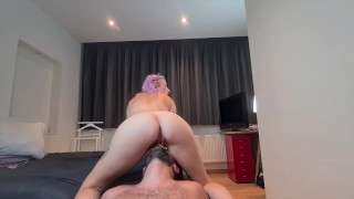 Female domination : I wanted him to eat my pussy, nice shaved pussy ridding and rubbing