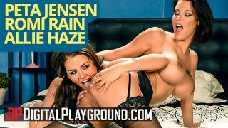 Digitalplayground Big tit Peta Jenson and Allie Haze facesit and eat pussy