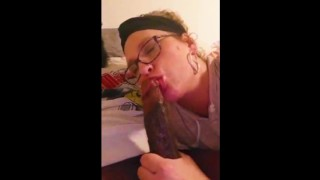 Omg Mother-in-law so Horny! Loves Deepthroating Swallowing Bbc!