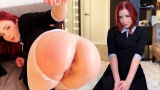 Cutie Deepthroats Neighbor Dick, Fucks In Different Poses And Gets A Cumshot On The Ass – Handjob