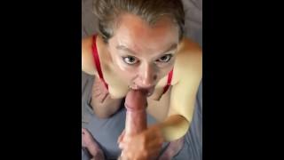 Shy curious girl next door takes her first facial