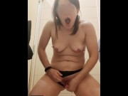 Slave Lika Lax ends holes from the anal plug in the public and drooling from the mouth