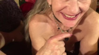 Sexy Mature MILF POV Eye Contact Deepthroat Cock Worship CIM Oral Creampie