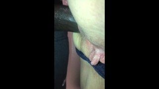 Too thick for her throat, 66y Mature bends over, surrends ass to BBC lover