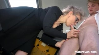 Hot granny wants young cock at MatureVan