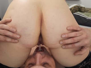 Hubby cleanup anal creampie and drink piss
