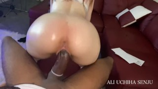 Poor Black Slave Has His HUGE 10 INCH DICK Milked By Rich White Slut BBC WORSHIP !