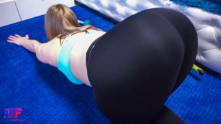 He couldn't resist her round ass and the workout continued with a great fuck