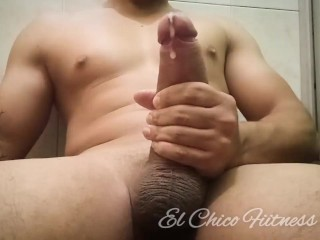 Huge Cumshot from Massive Cock and MOANING ORGASM - Part 2