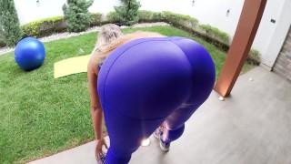 ANAL MADNESS/ My sluttie BIG ASS yoga instructor CUM all inside his bubble butt