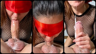69 deep throat with lots of spit choking on cock, DROOLING dirty naughty gagging