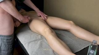 Massage therapist cum on wife's stomach 210