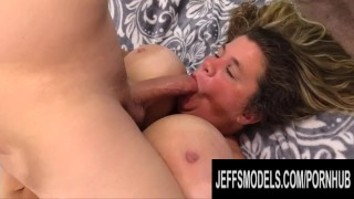 Hairy Mature BBW Hayley Jane Has Her Huge Boobs Fucked and Rides Hard