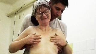 Hairy Skinny Granny