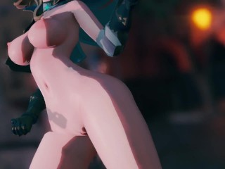 Mmd r18 Amber Lisa Jean they dance because they lost the bet
