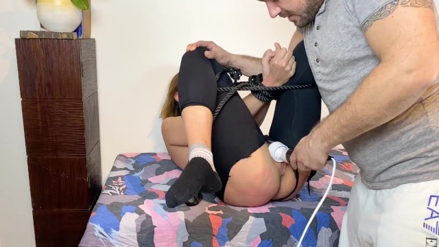 gets tied up and buggered