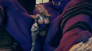 Big monster ork fuck with female knight - Hentai 3D animation