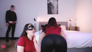 Cuckold Jerks Off And Kisses Wife In Lover's Cum