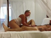 From shower to bed - Amateur Russian couple have fun at Zanzibar, December 2020