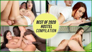 HornyHostel – Best Of 2020 Hostel PILATION! Petite Horny Teens Love To Fuck – LETSDOEIT