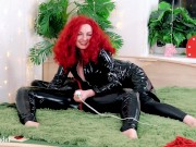 Lesbian PVC Fetish Soft Play with Tickling and Positive FemDom Masturbation