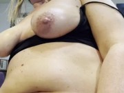 Hot milf wife with big natural tits knows how to satisfy her hubbies nice cock like no other