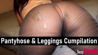 射液上美丽的屁股在连裤袜和绑腿-SexyLyah汇编