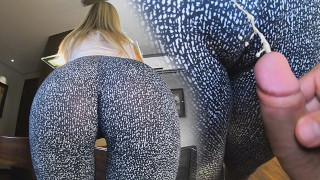 Wearing leggings for you to cum on my Cameltoe MYSTERIOUSKATHY POV 4K