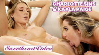 Sweetheart – Blonde lesbians Charlotte Sins & Kayla Paige 69 till they cum