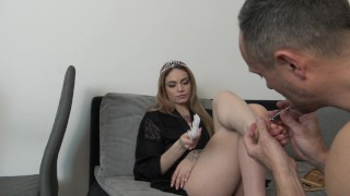PEDICURE SLAVE OF THE FRENCH PRINCESS