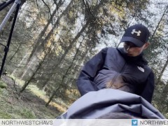 Chavs fuck outdoor in woods at cruising spot