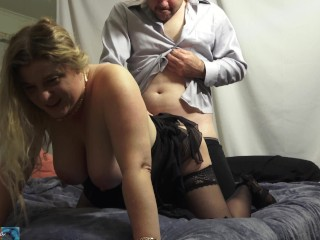 Stepmom gives stepson the wrong pills and helps him cum
