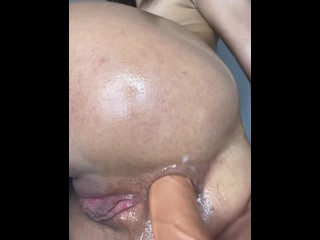 orgasm with cock in her ass