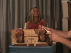 Olya Tickled in the Stocks - (partial clip)