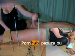Amateur Femdom CFNM Handjob - Sounding, Ruined Orgasm, Post Orgasm Torture, Post Cum Feet Tickling