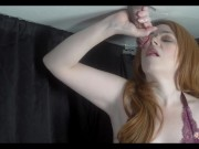 Irish MILF Milking Table Tongue Teasing until Hands Free Orgasm
