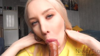 Beautiful blonde wanted me to cum in her mouth