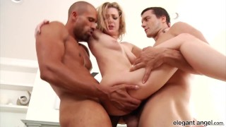 Anal Fanatic Pretty Blonde Babe Dahlia Sky Takes on Two Hung Studs at Once