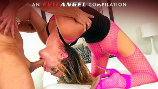 EvilAngel – Sloppy Deepthroats, Gag Reflex & Facials Compilation