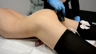 Sissy boy Humping and Cum Hands Free after waxing