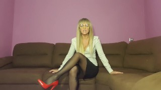 lady boss play with sub worker bdsm