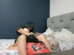 Martinasmith's friend cum in her mouth while she talks with her boyfried on call