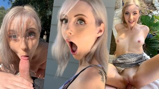 Blonde JAMIE JETT Public Sex after Crashing Porn Set