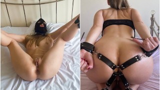 Homemade Bondage with anal BJ and finished off with squirt Morning fuck in 3 holes by BBC