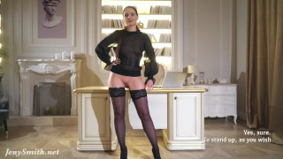 Your Boss – Hight heels and mini skirt