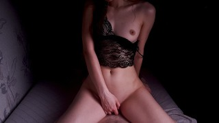 Hot Roommate In Sexy Lingerie With A Big Ass Fucks Better Than Girlfriend POV